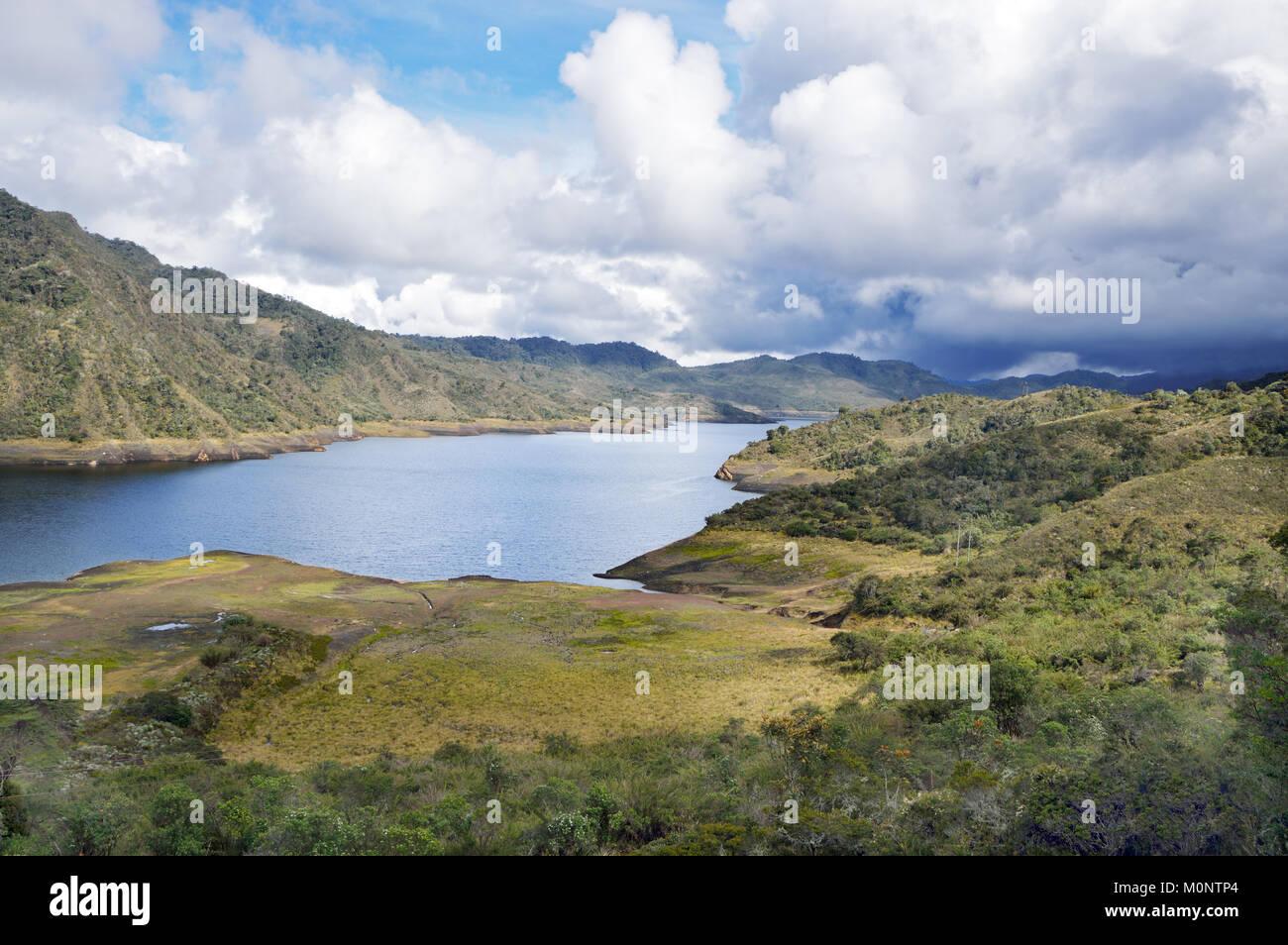 In den kolumbianischen Anden, die nationalen Chingaza Nationalpark ist wichtig für die Alpine Tundra bekannt Stockbild