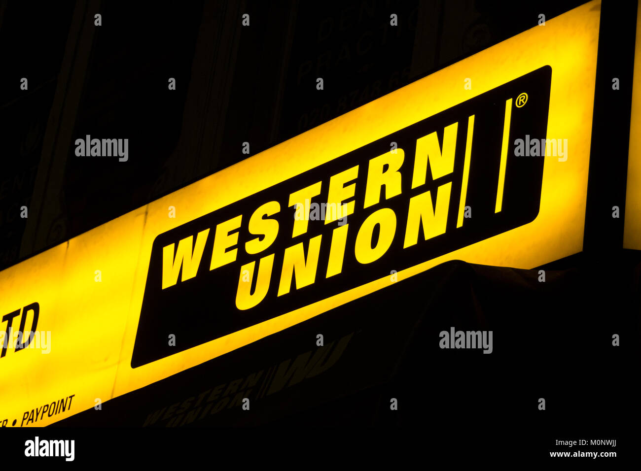 Western union money transfer stockfotos western union money