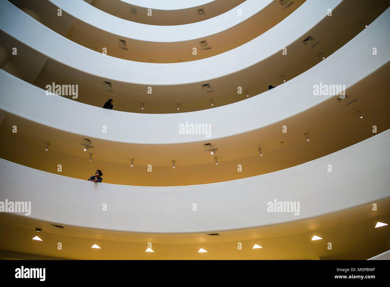 United States, New York, New York City, in der Upper East Side, Guggenheim Museum, Lobby innen Stockbild