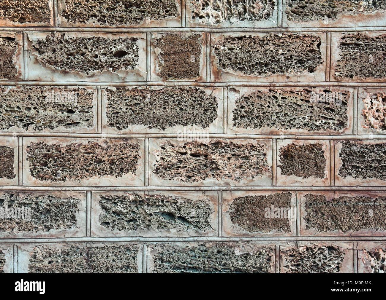 Sedimentgestein Mauer Zaun Aussen Textur Weit Verbreitet In Den