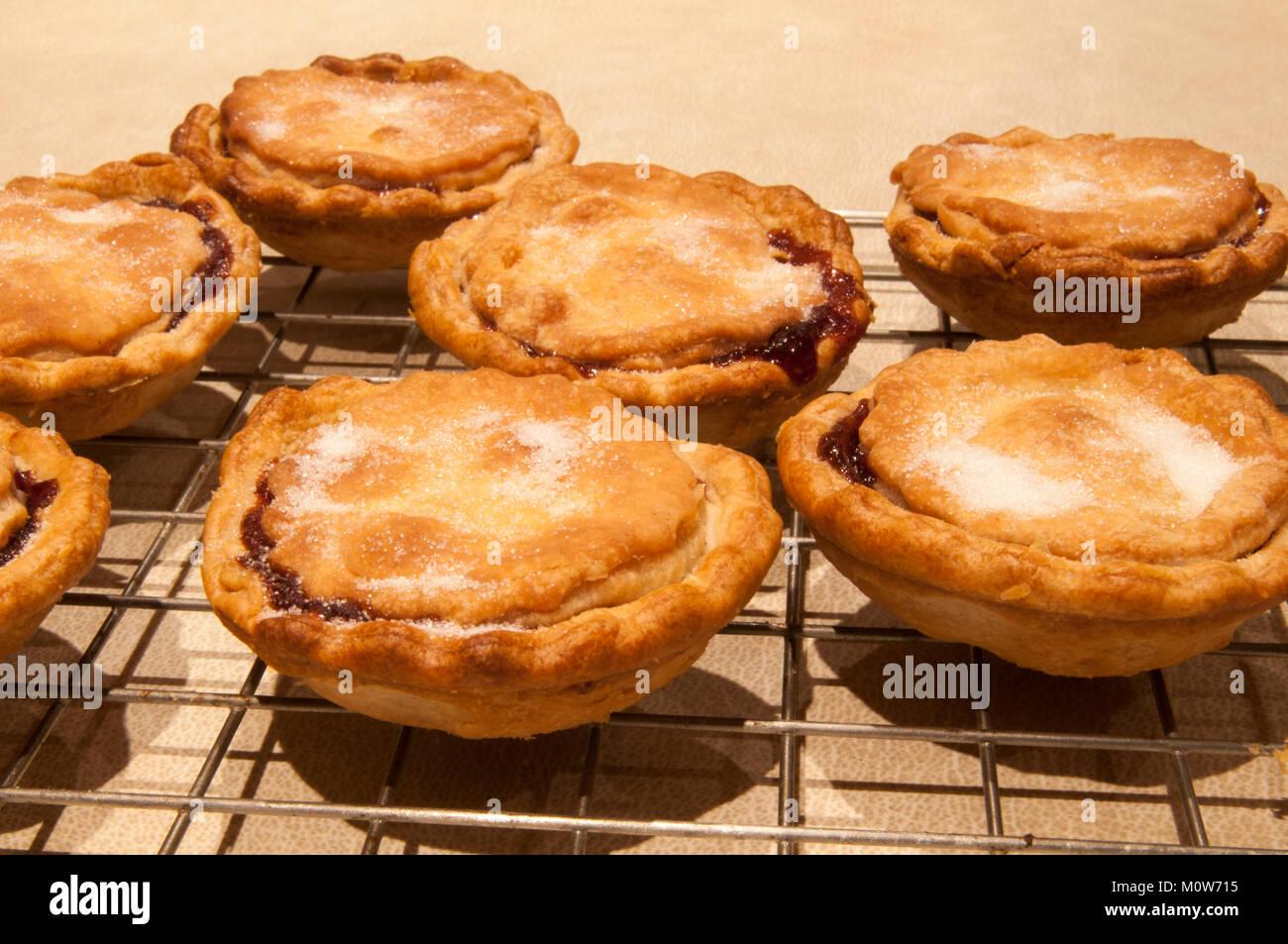 Frisch zubereitete hausgemachte Torten Gehacktes, heiß aus dem Ofen ...
