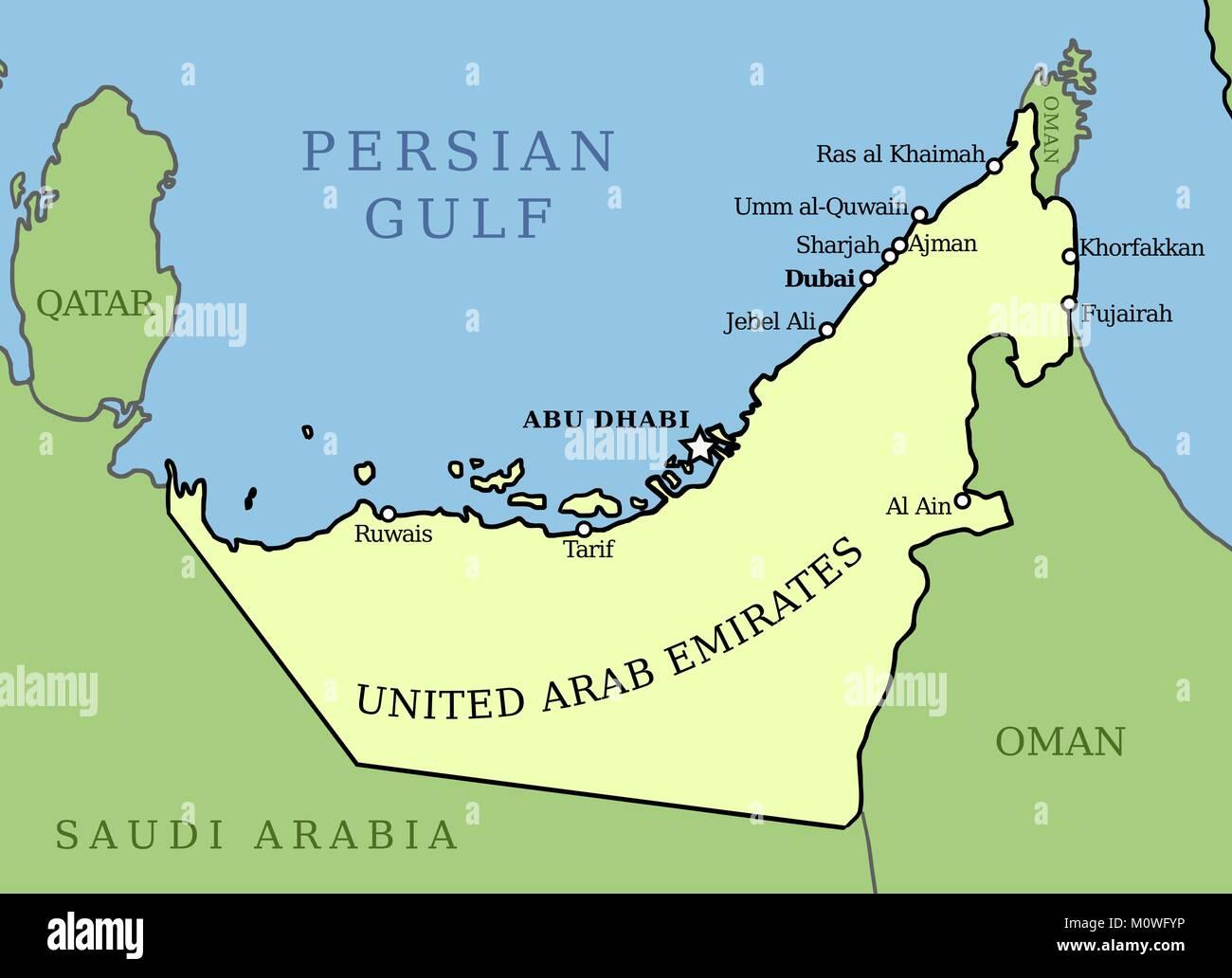 Abu Dhabi Map Stockfotos & Abu Dhabi Map Bilder - Alamy