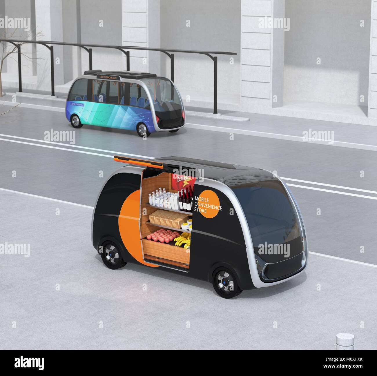 driverless bus stockfotos driverless bus bilder alamy. Black Bedroom Furniture Sets. Home Design Ideas