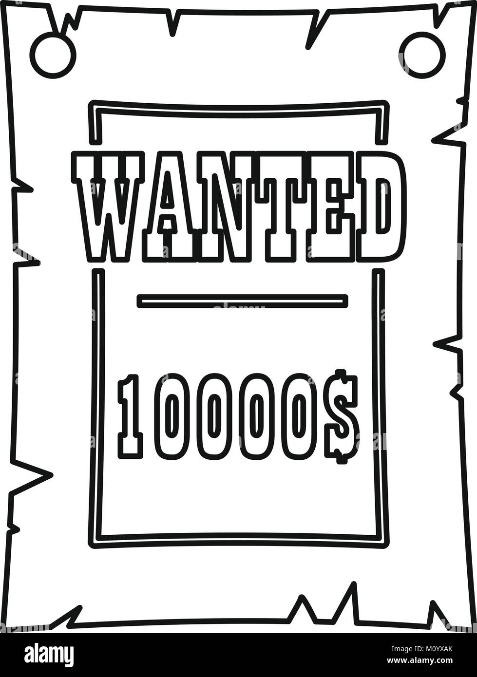 Outlaw Wanted Poster Stockfotos & Outlaw Wanted Poster Bilder - Alamy