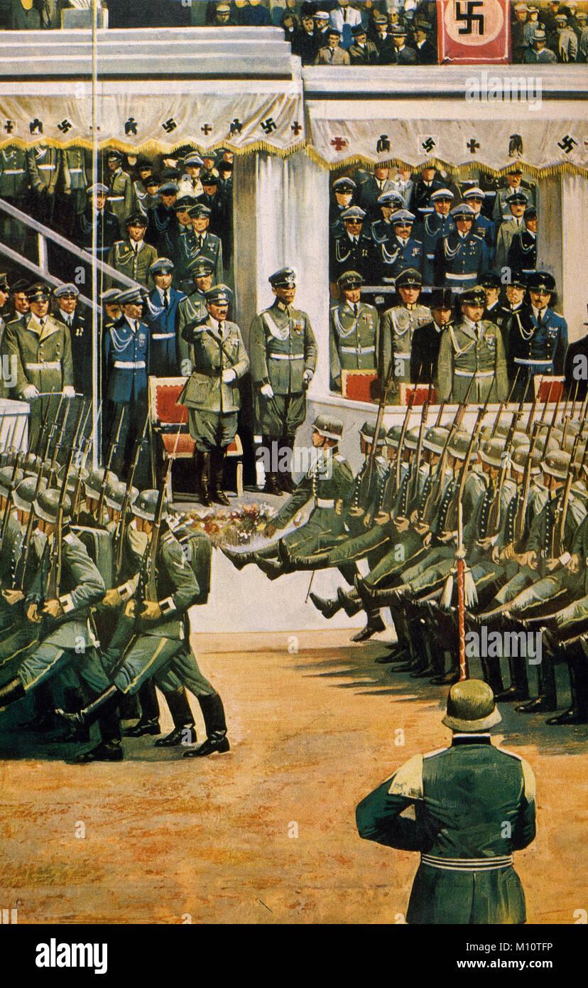 Ns Deutschland Berlin Deutsche Soldaten Im Militarischen Parade