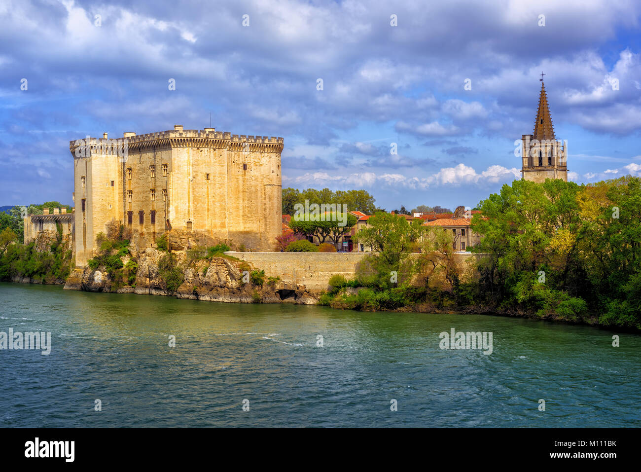 tarascon castle rhone river france stockfotos tarascon. Black Bedroom Furniture Sets. Home Design Ideas