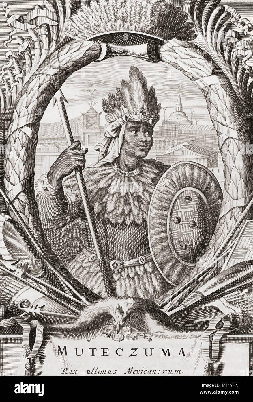 Moctezuma Ii C 1466 1520 9 Herrscher Der Stadt Zustand Von