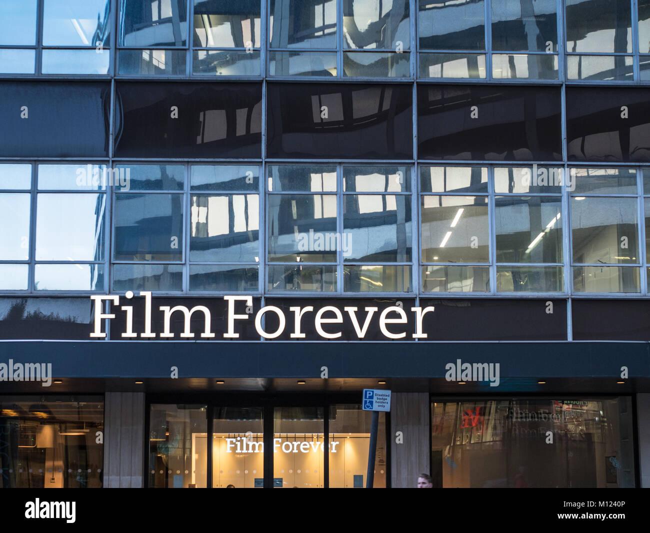 BFI Stephen Street Büros in London - British Film Institute Screening und Tagungsräumen in Central London, Stockbild