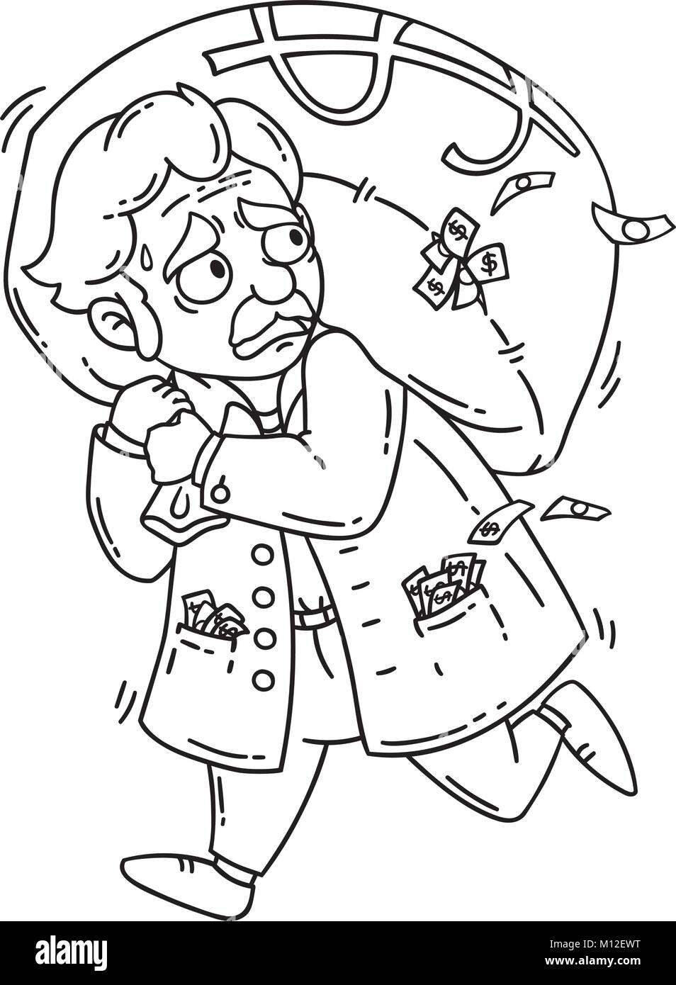Cartoon Objects Coloring Page Stockfotos & Cartoon Objects Coloring ...