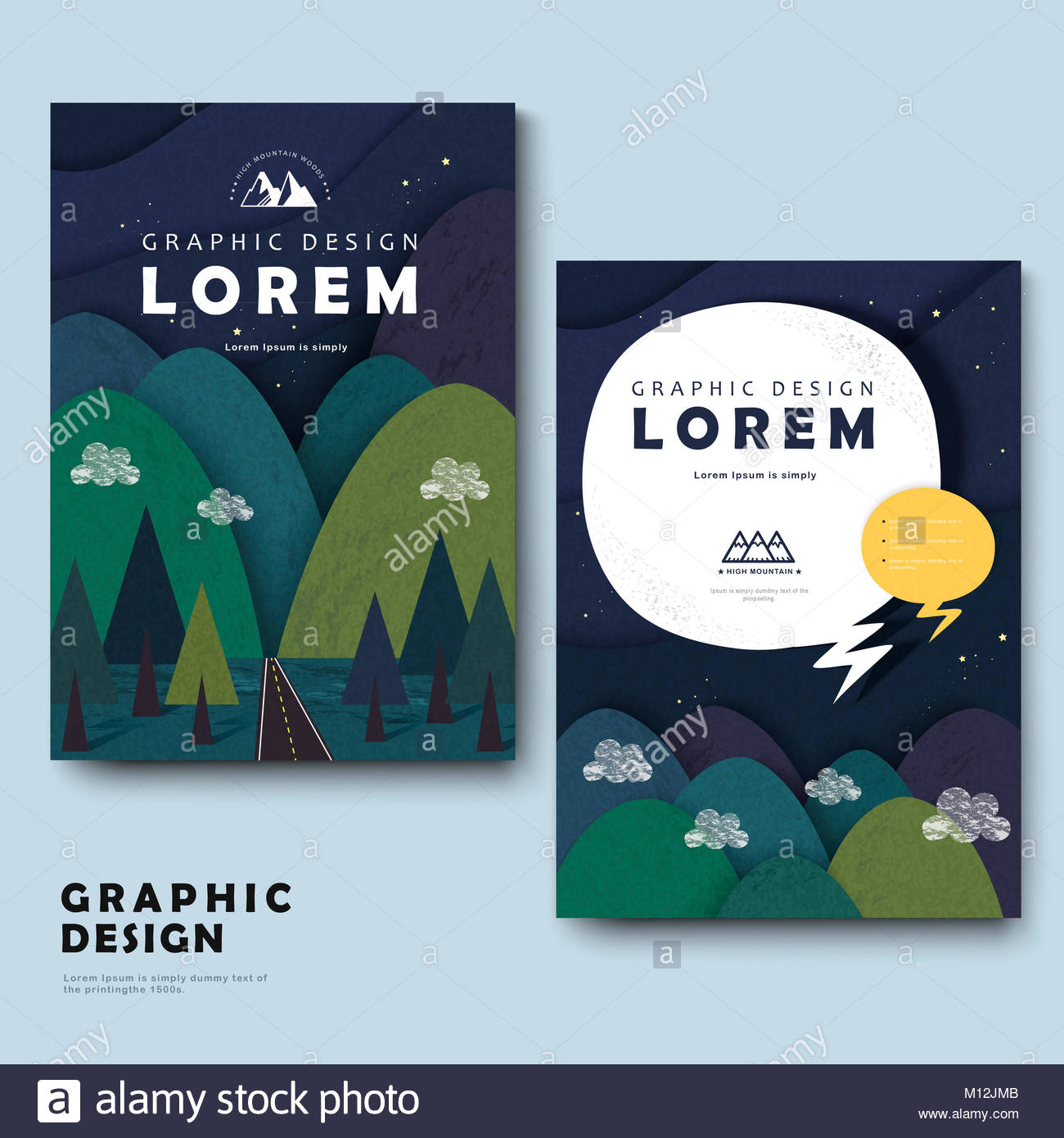 Template Brochure Mountain Stockfotos & Template Brochure Mountain ...