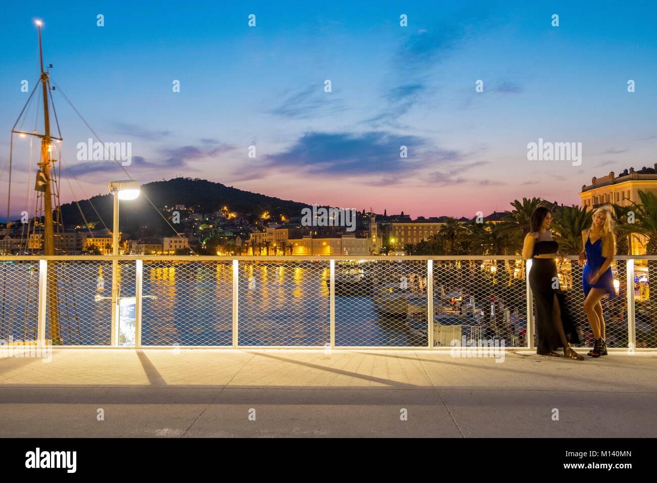 Kroatien, Kvarner, Dalmatinische Küste, Split, der Port Stockbild