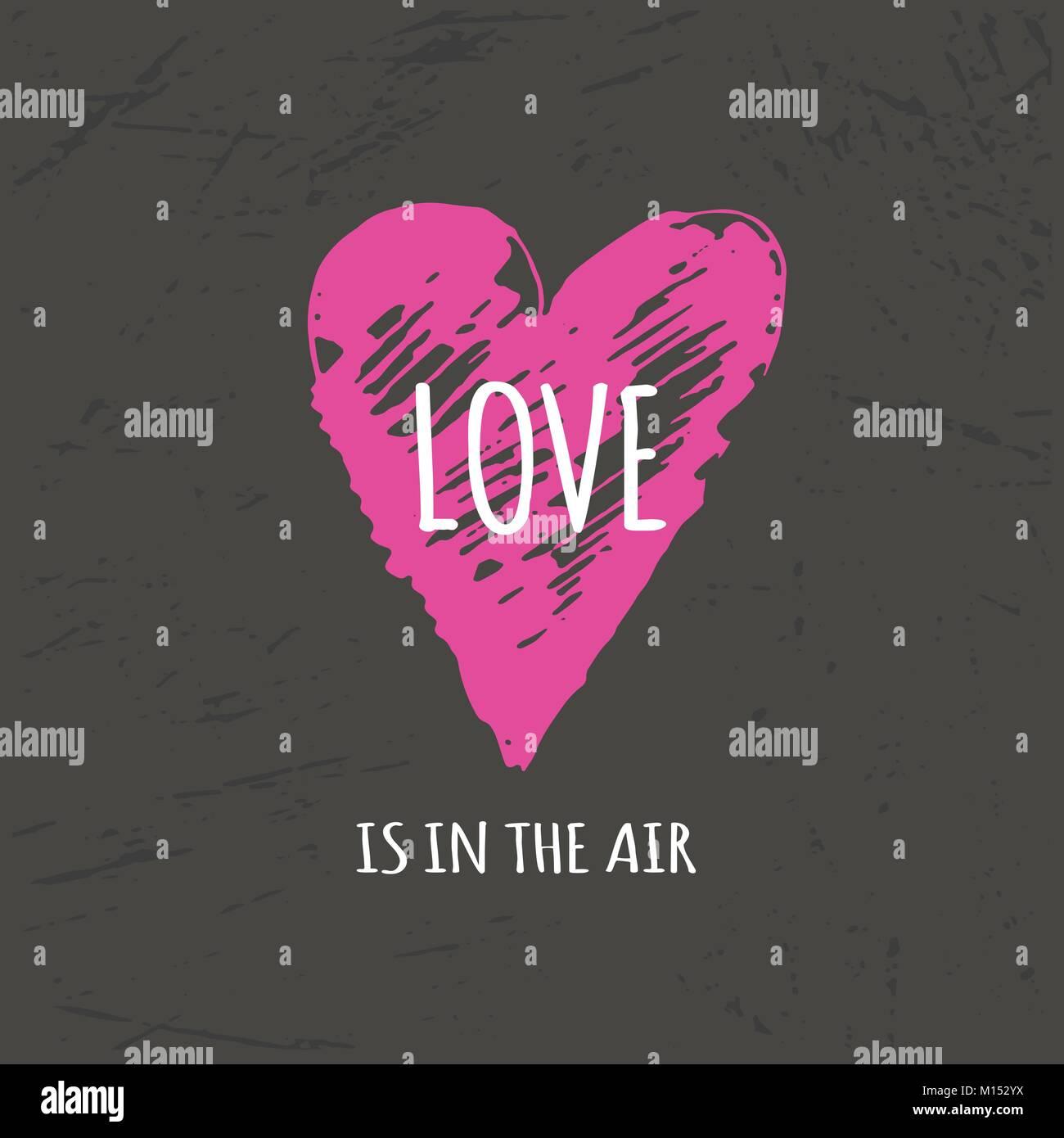 Schönen Valentinstag Geschenk Karte Mit Herz Und Schriftzug Liebe