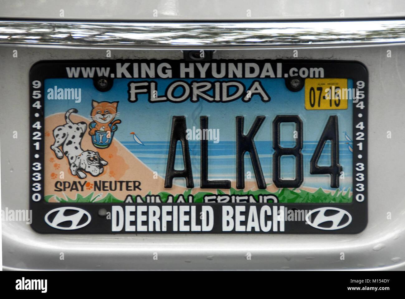 Florida Number Plate Stockfotos & Florida Number Plate Bilder - Alamy
