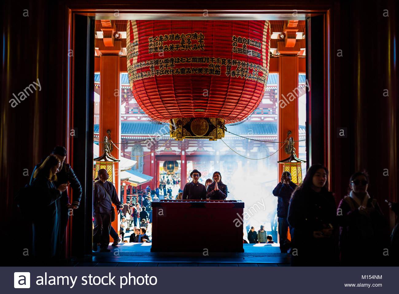 Sens?ji - Asakusa Kannon Tempel Stockbild