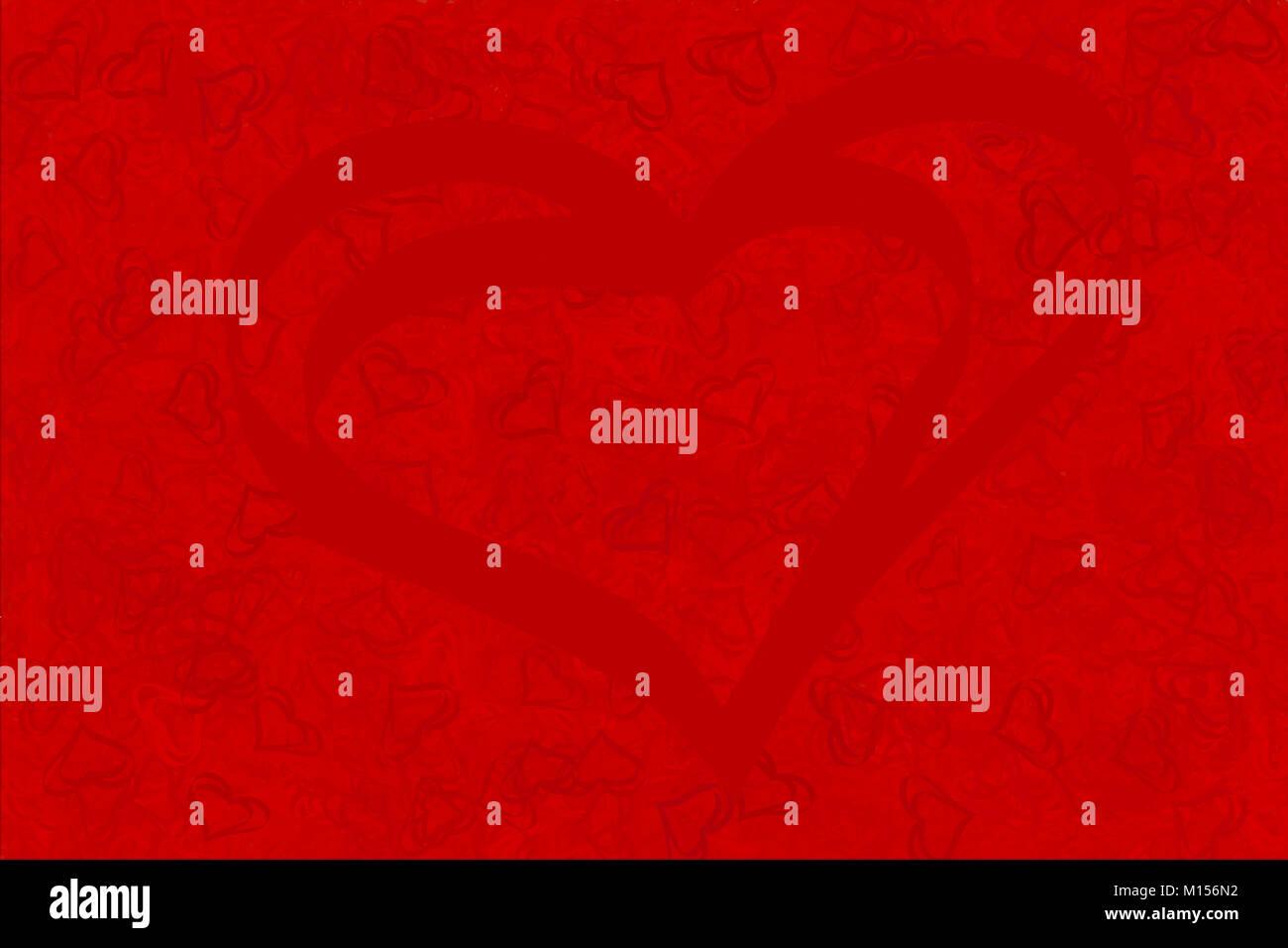 Roter Hintergrund Von Roten Herzen Fur Bildschirmschoner Und
