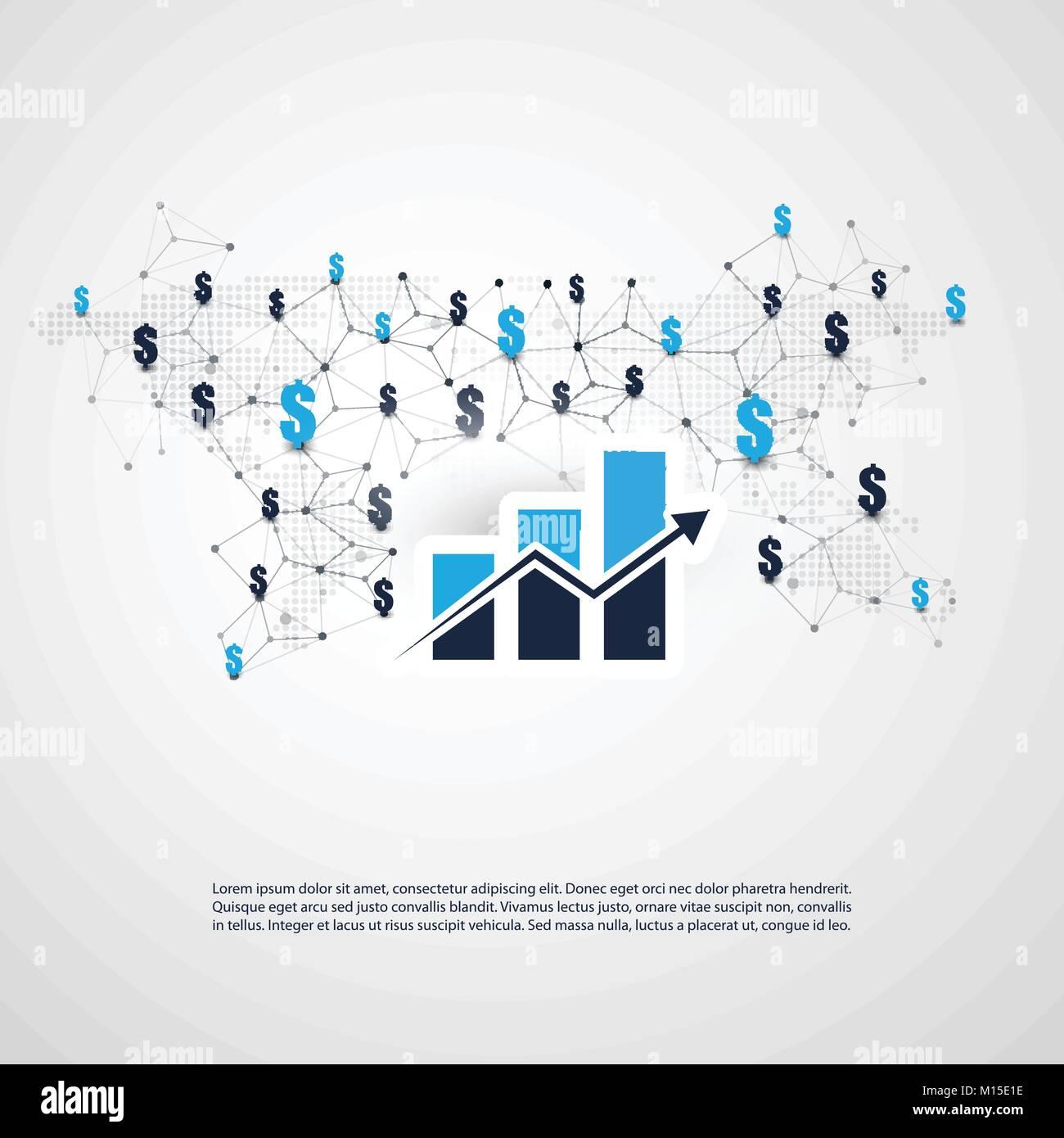 Netzwerke Geschäftsverbindungen Weltweit Finanzielle