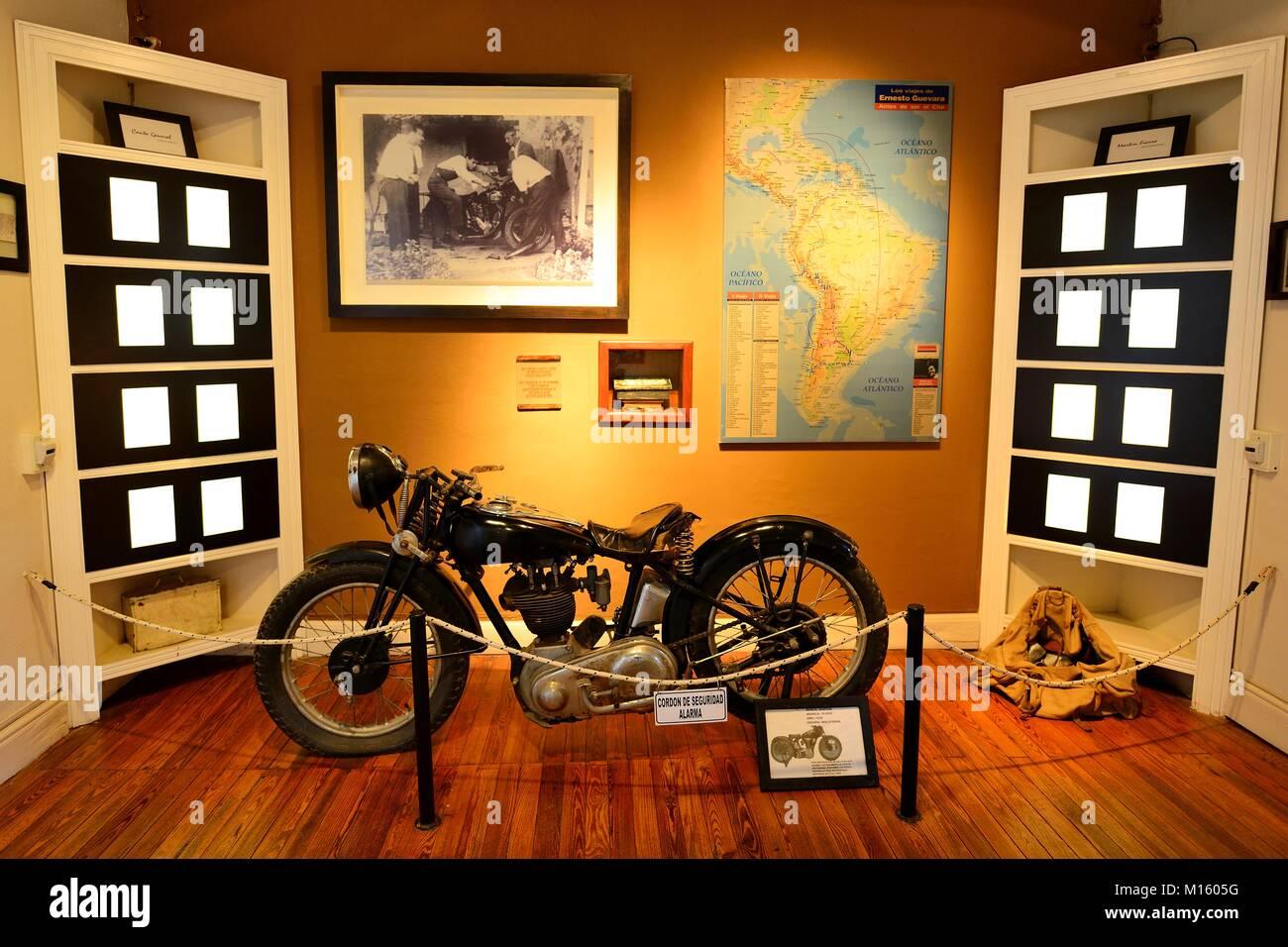 Motorrad von Ernesto Che Guevara, Museo Casa del Che, Alta Gracia, Provinz Córdoba, Argentinien Stockbild