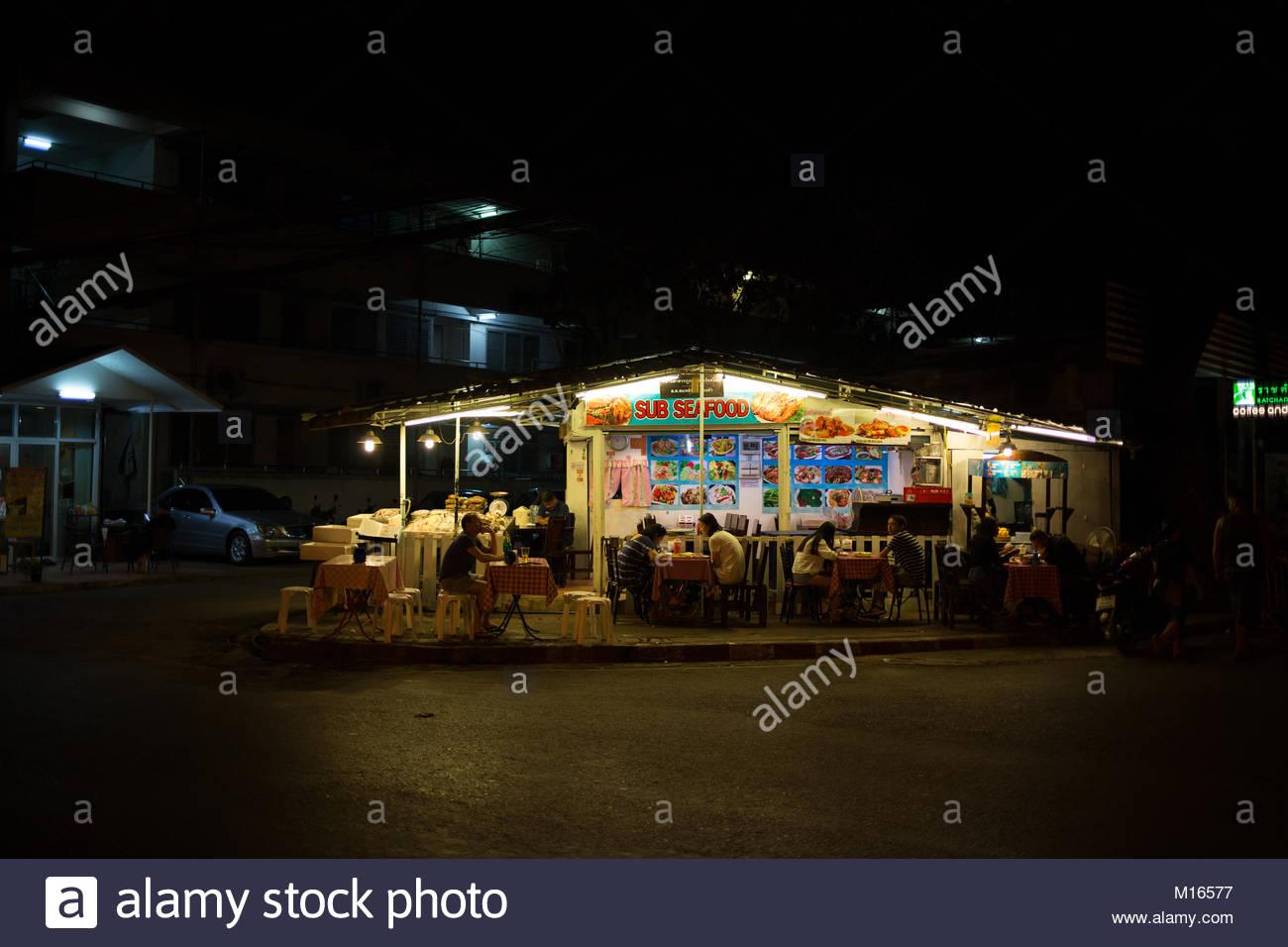 Seafood Restaurant Stockbild
