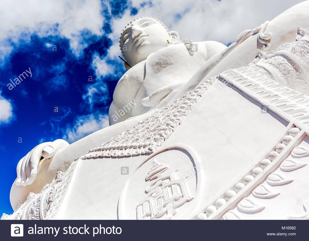 Weiße Buddha Stockbild