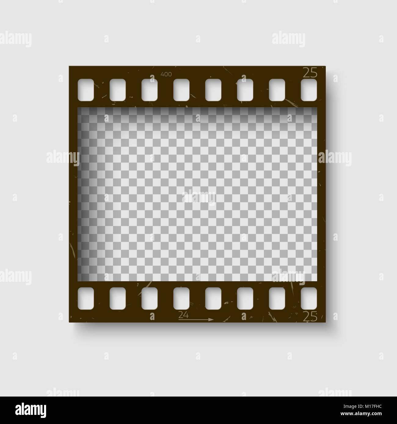 Rahmen von 35-mm-Filmstreifen. Leere blanck Photo negative Film ...