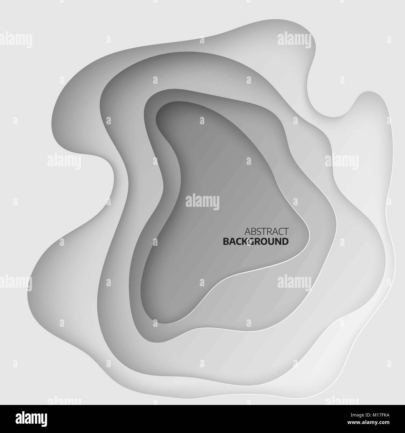 Papier schneiden Formen. 3D-abstrakten geometrischen Hintergrund ...