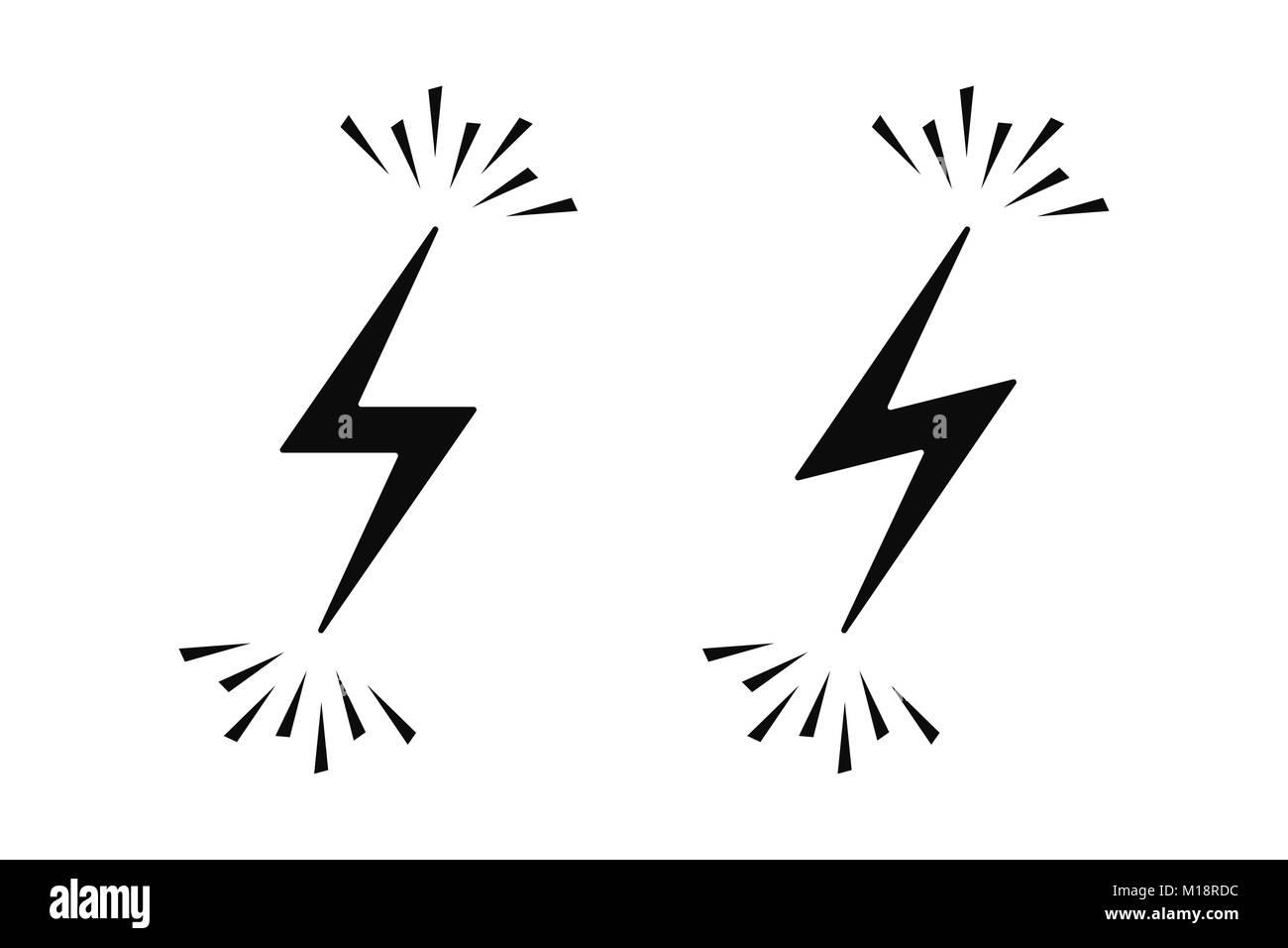 Elektrische Zeichen mit Funken. Vector Illustration der elektrischen ...