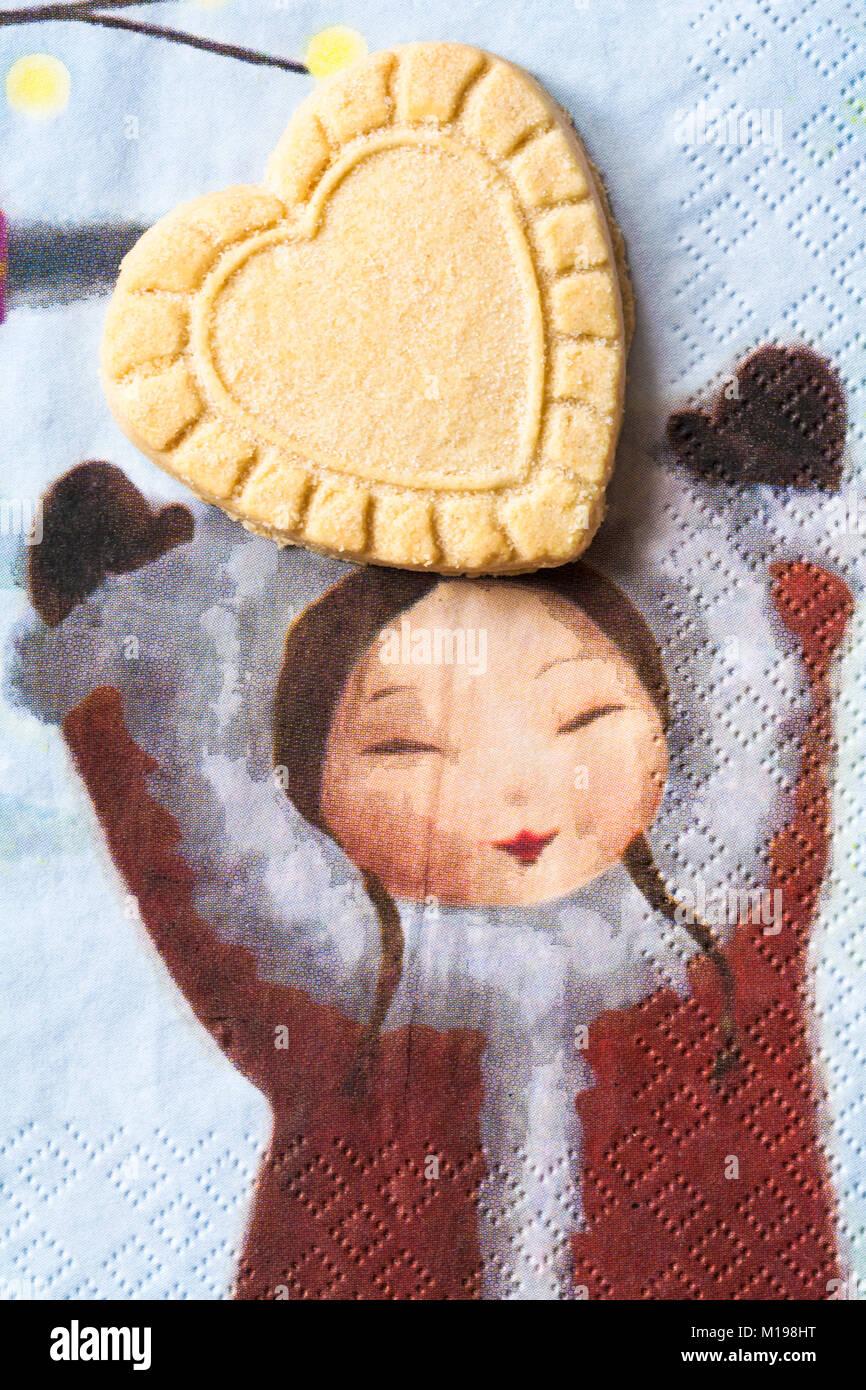 Tesco alle Butter Scottish Shortbread Sortiment - herzförmige Kekse ...