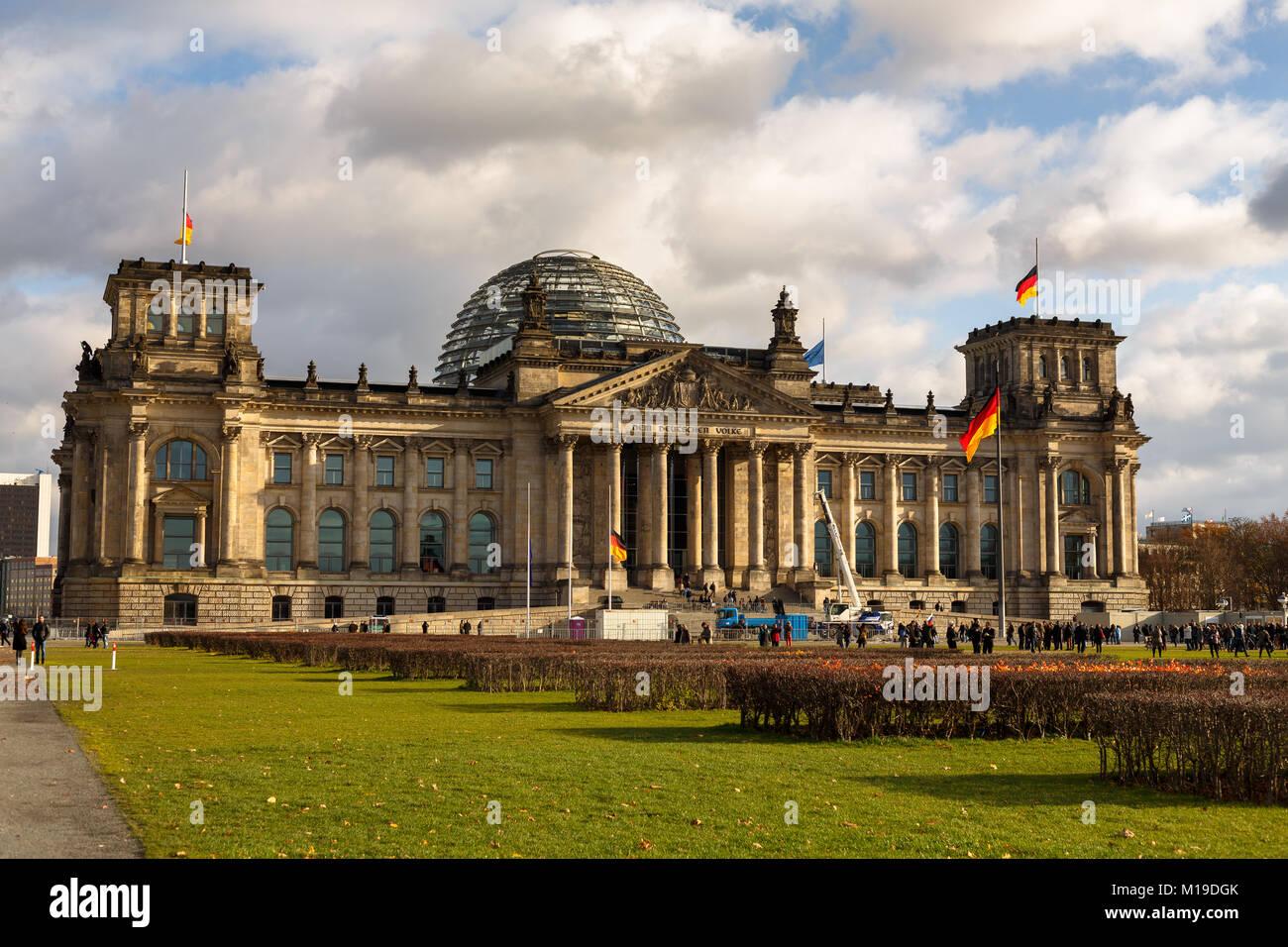 Reichstagsgebäude, Berlin Stockbild