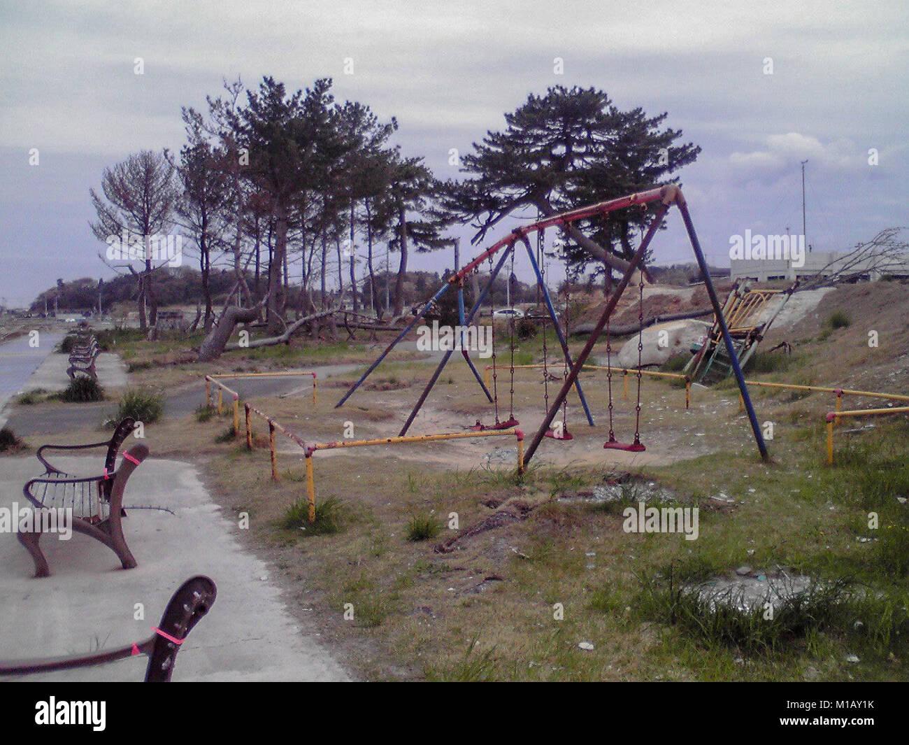 2 Marz 2012 Soma Fukushima Japan Fast 1 Jahr Nach Tohoku