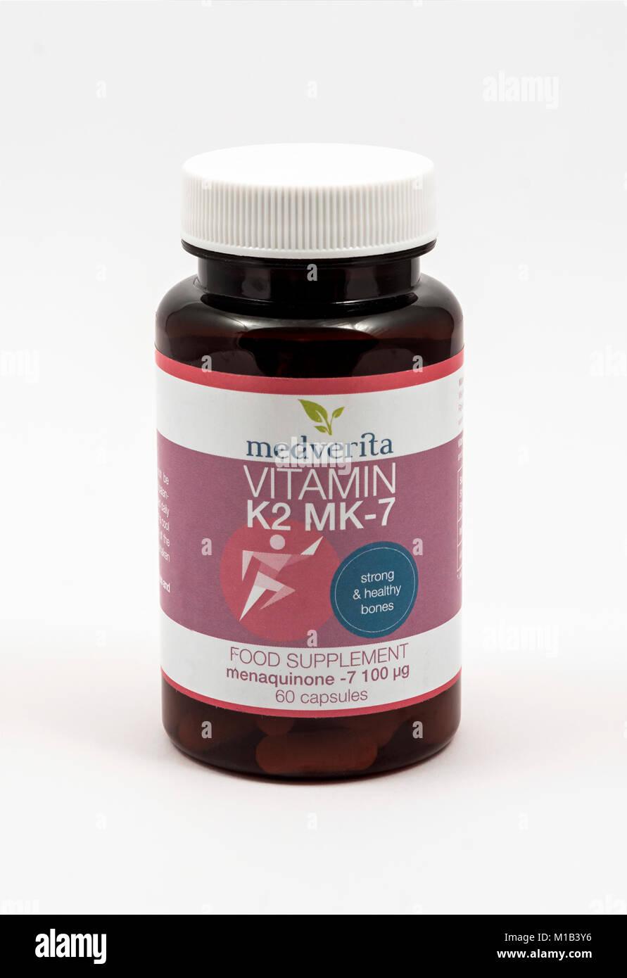 Vitamin K2 MK7 Stockbild