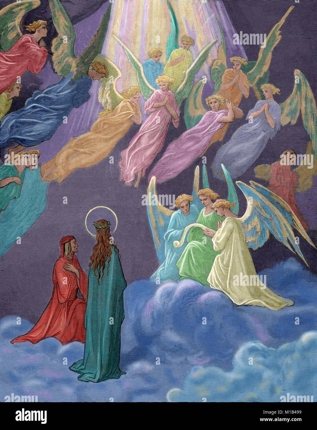 """""""Göttliche Komödie"""". Episches Gedicht von Dante Alighieri zwischen 1308 und seinem Tod im Jahr Stockbild"""