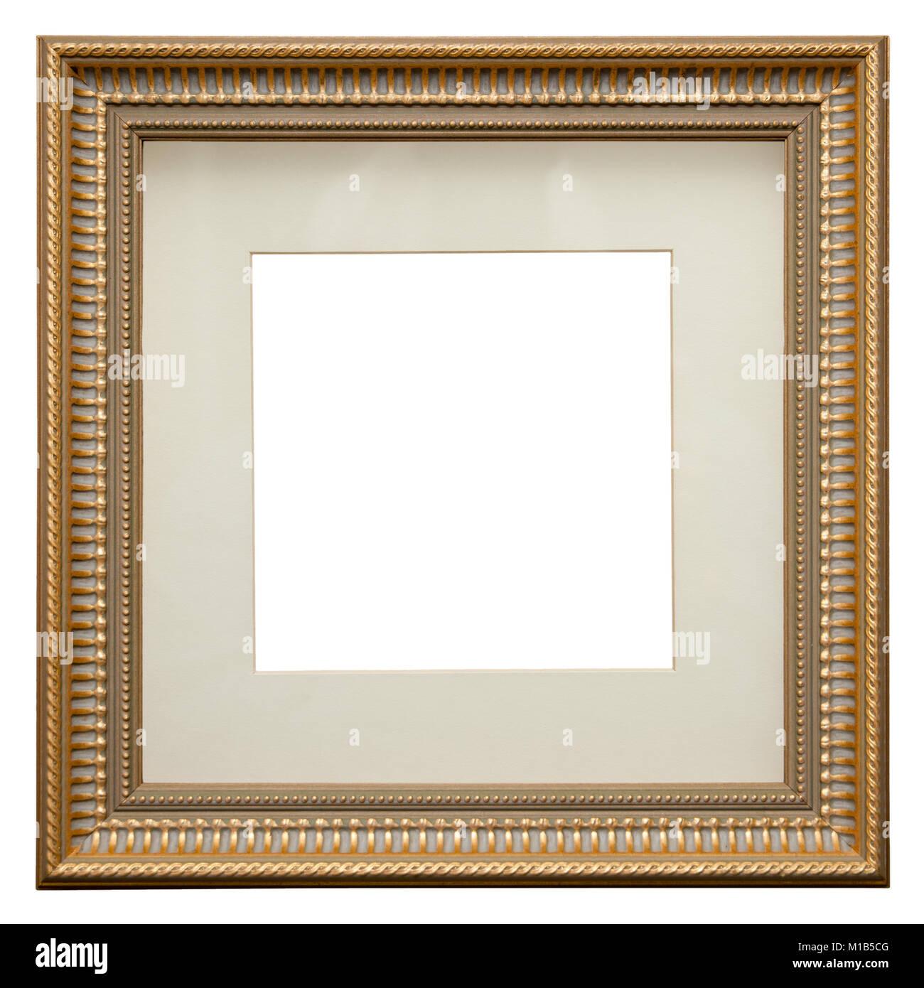 leeren bilderrahmen auf weißen, quadratischen format isoliert, in