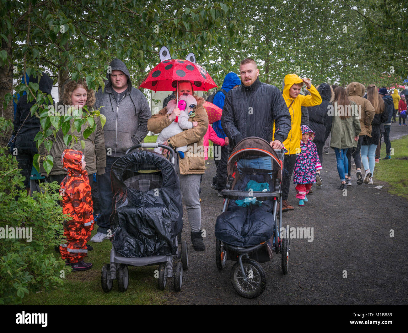 Sommerfest, Independence Day, Reykjavik, Island Stockbild