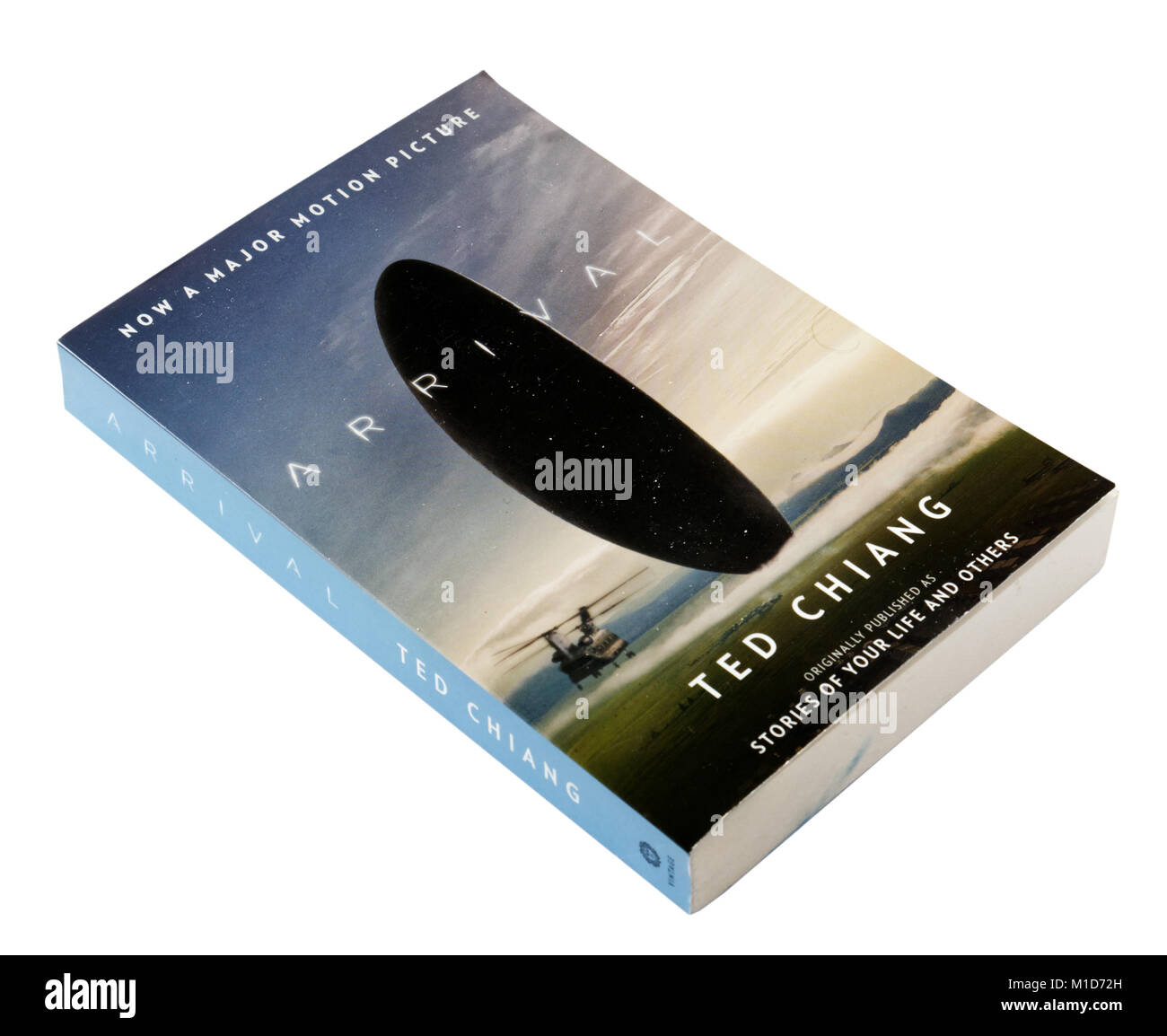 Anreise mit Ted Chiang, ursprünglich als Geschichten ihres Lebens veröffentlicht. Stockbild