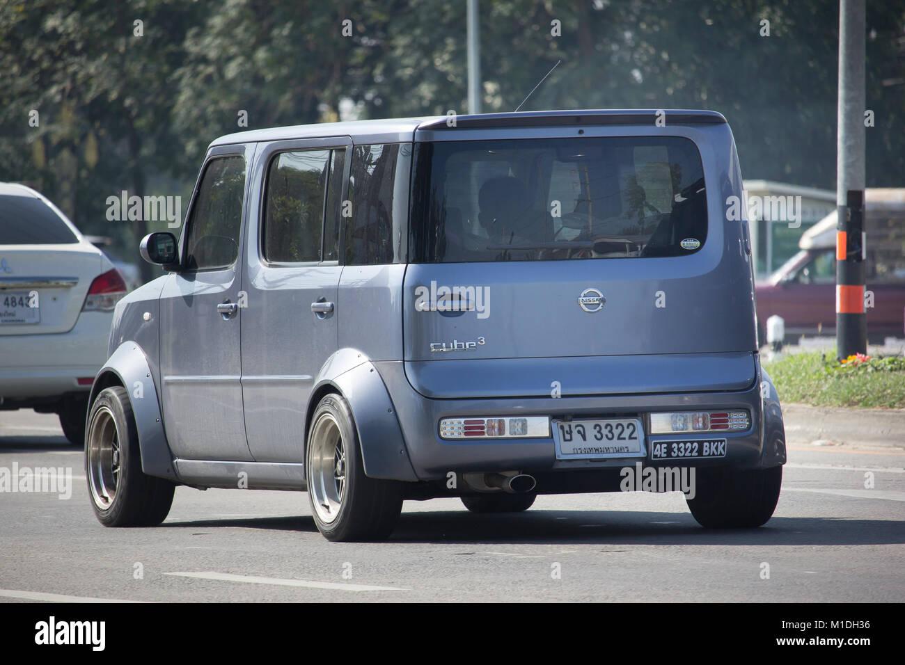 Chiang Mai Thailand 9 Januar 2018 Private Nissan Cube Mini Van