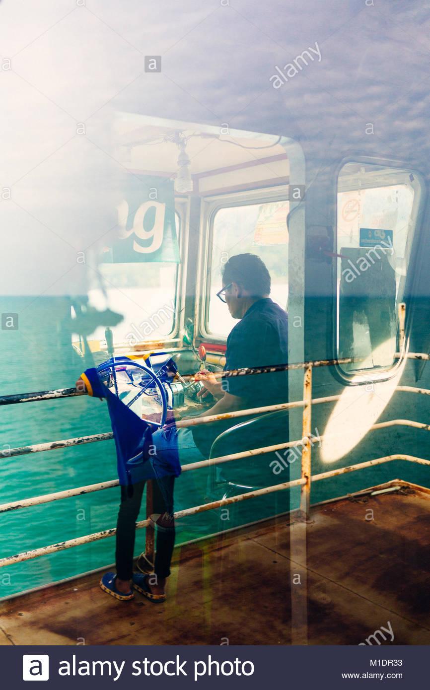 Fähre nach Koh Chang Stockbild