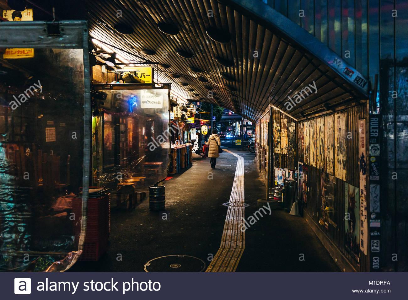 Fußgänger-Unterführung auf Tokio Stockbild
