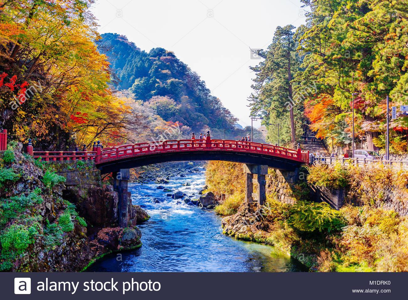 Shinkyo-Brücke Stockbild