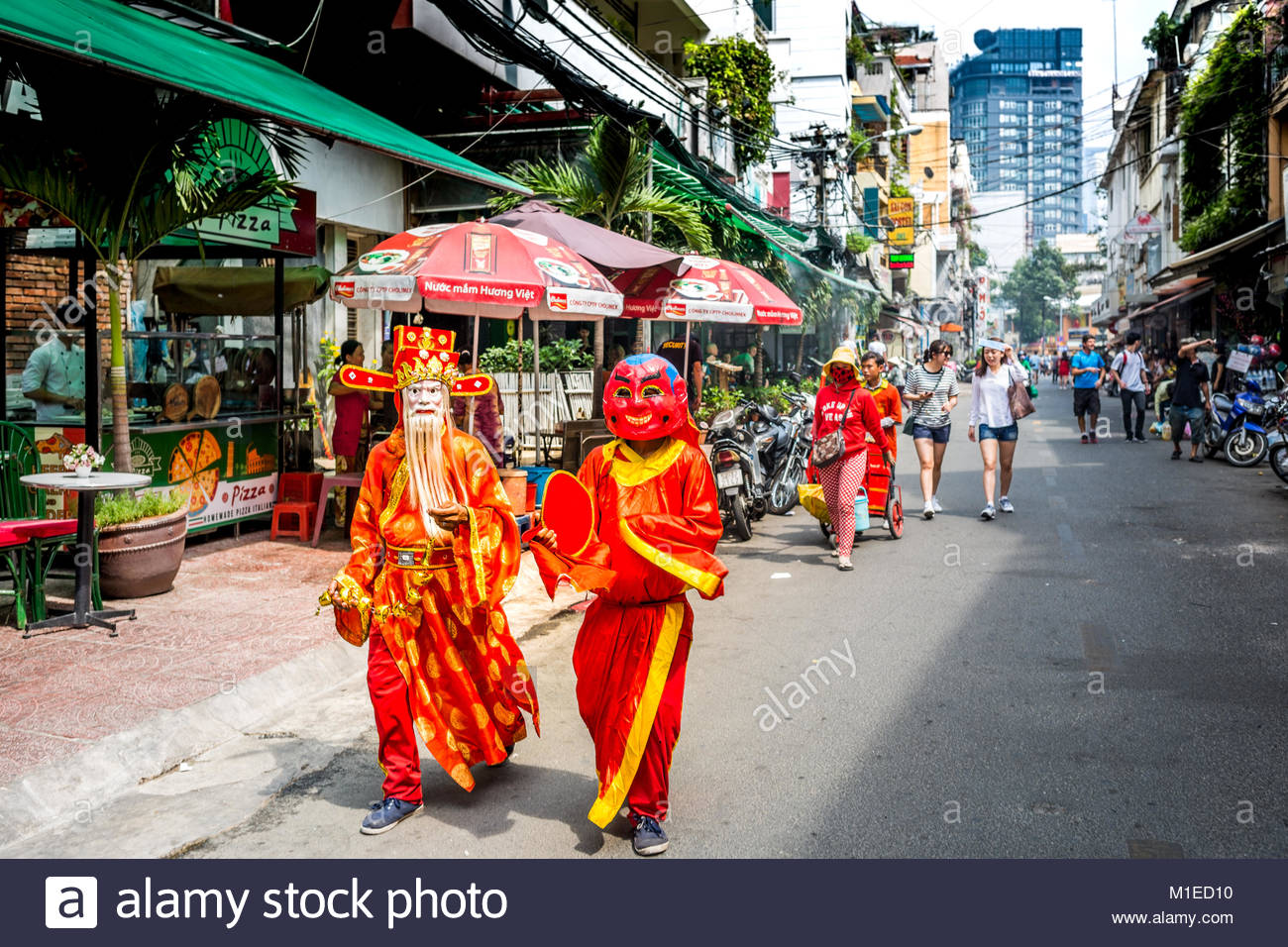 Tet Festival in Ho Chi Minh City Stockbild