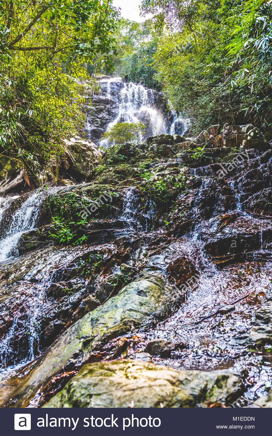 Wasserfälle bei Phon Nha Ke Bang Nationalpark Stockbild