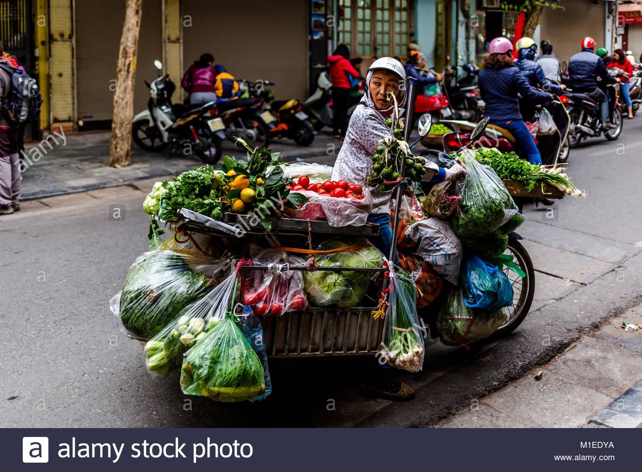 Mobile Gemüse Bazar Stockbild