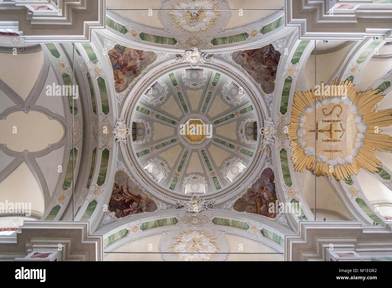 Mannheim, Jesuitenkirche St. Ignatius und Franz Xaver Stockbild