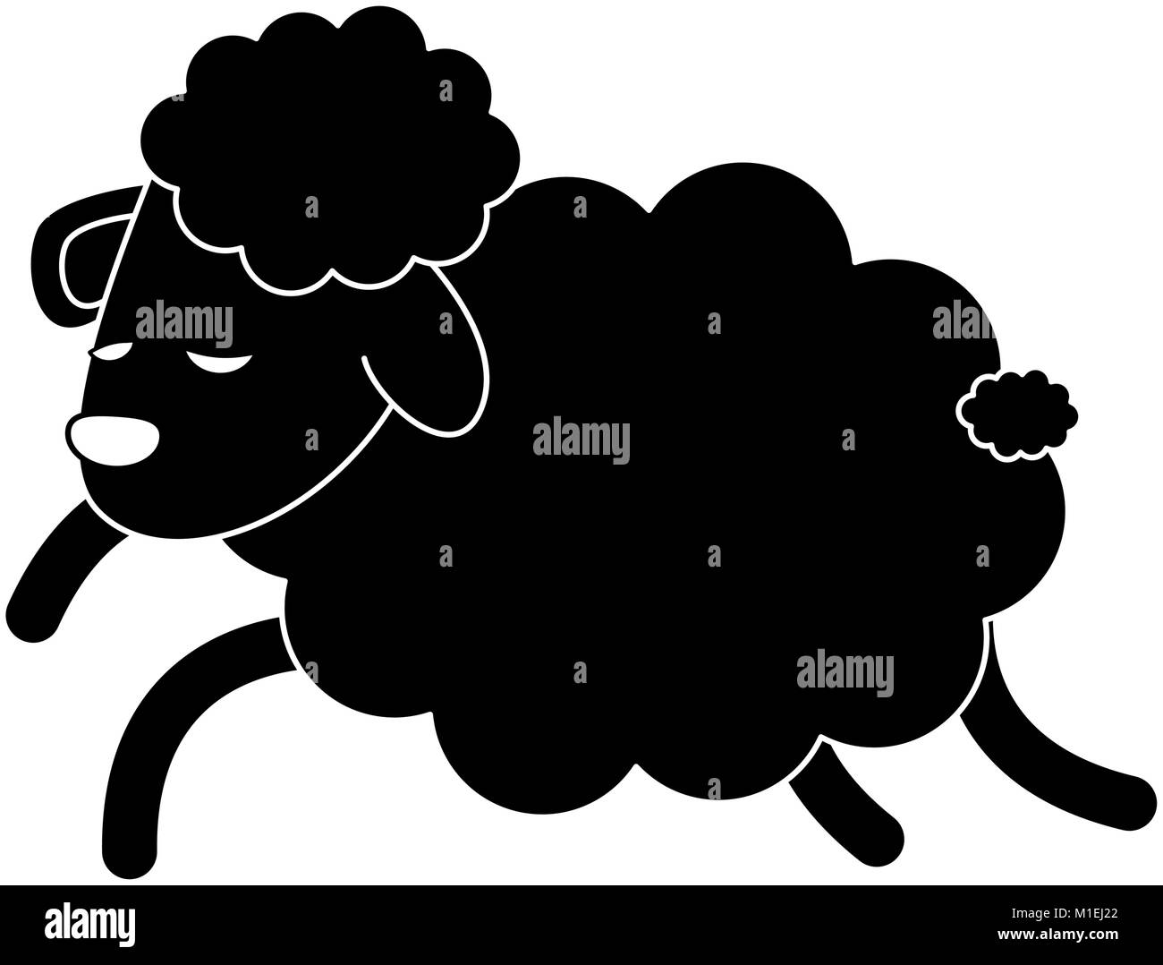 Schlafende Schafe Cartoon Stock Vektorgrafik Alamy