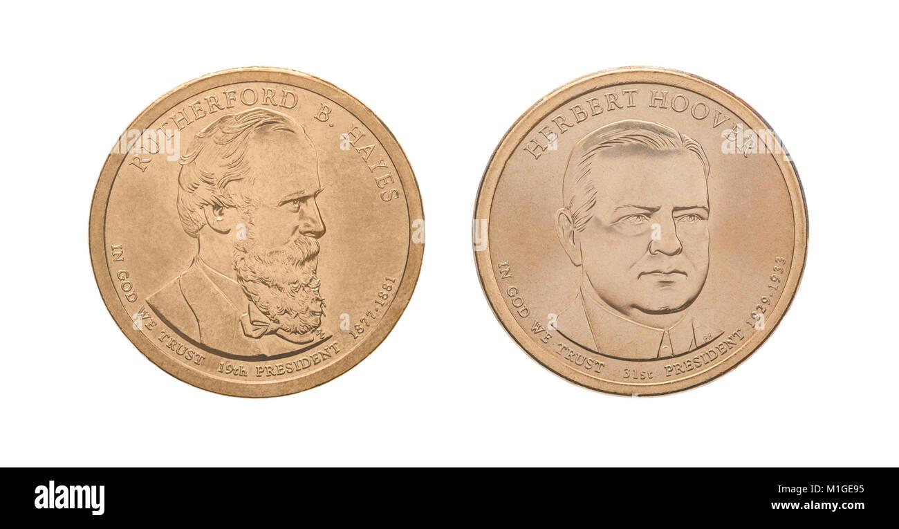 Us Präsidentschaftswahl 1 Dollar Münzen Mit Rutherford B Hayes Und