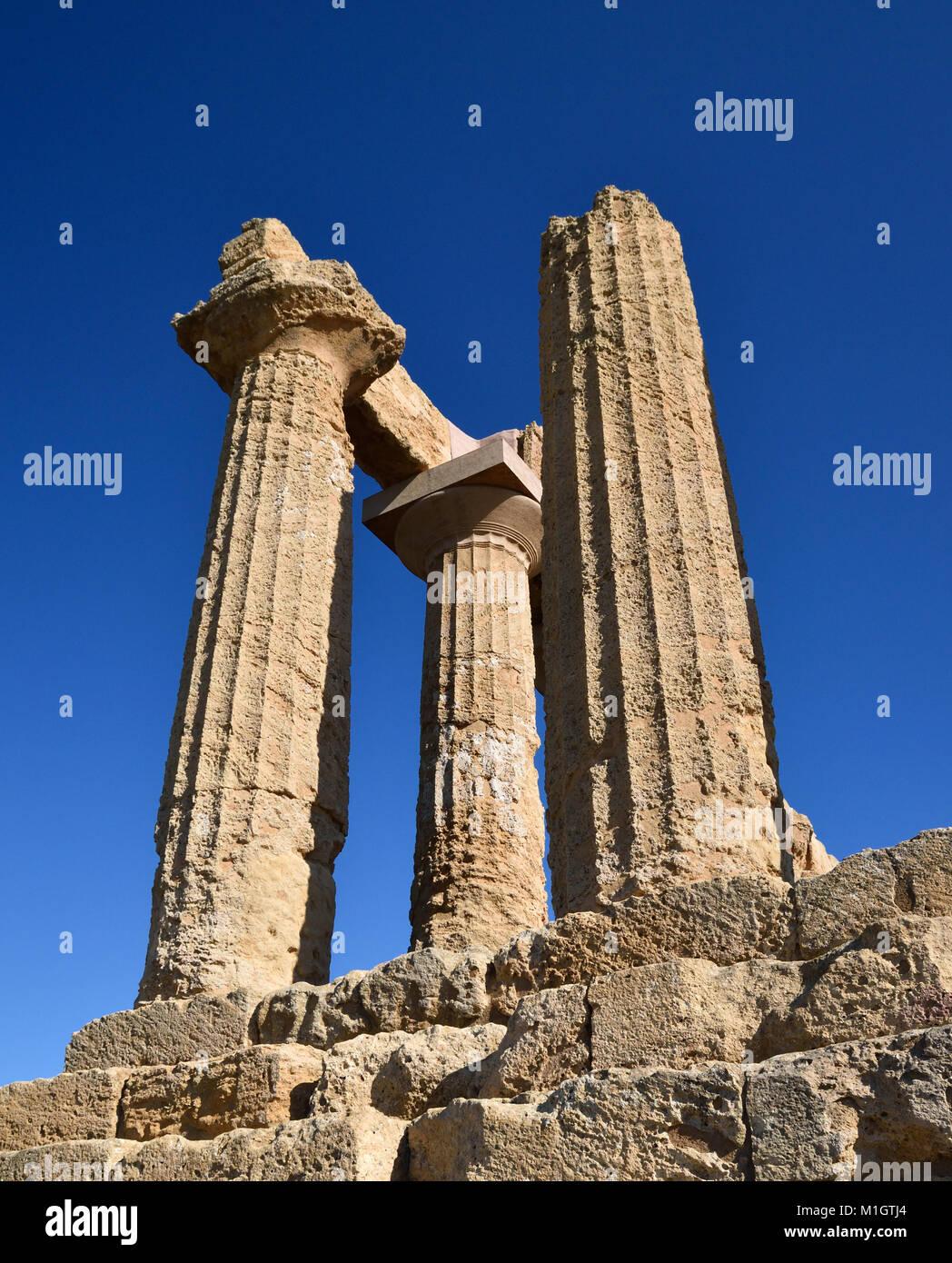 Das Tal der Tempel, Sizilien Stockbild