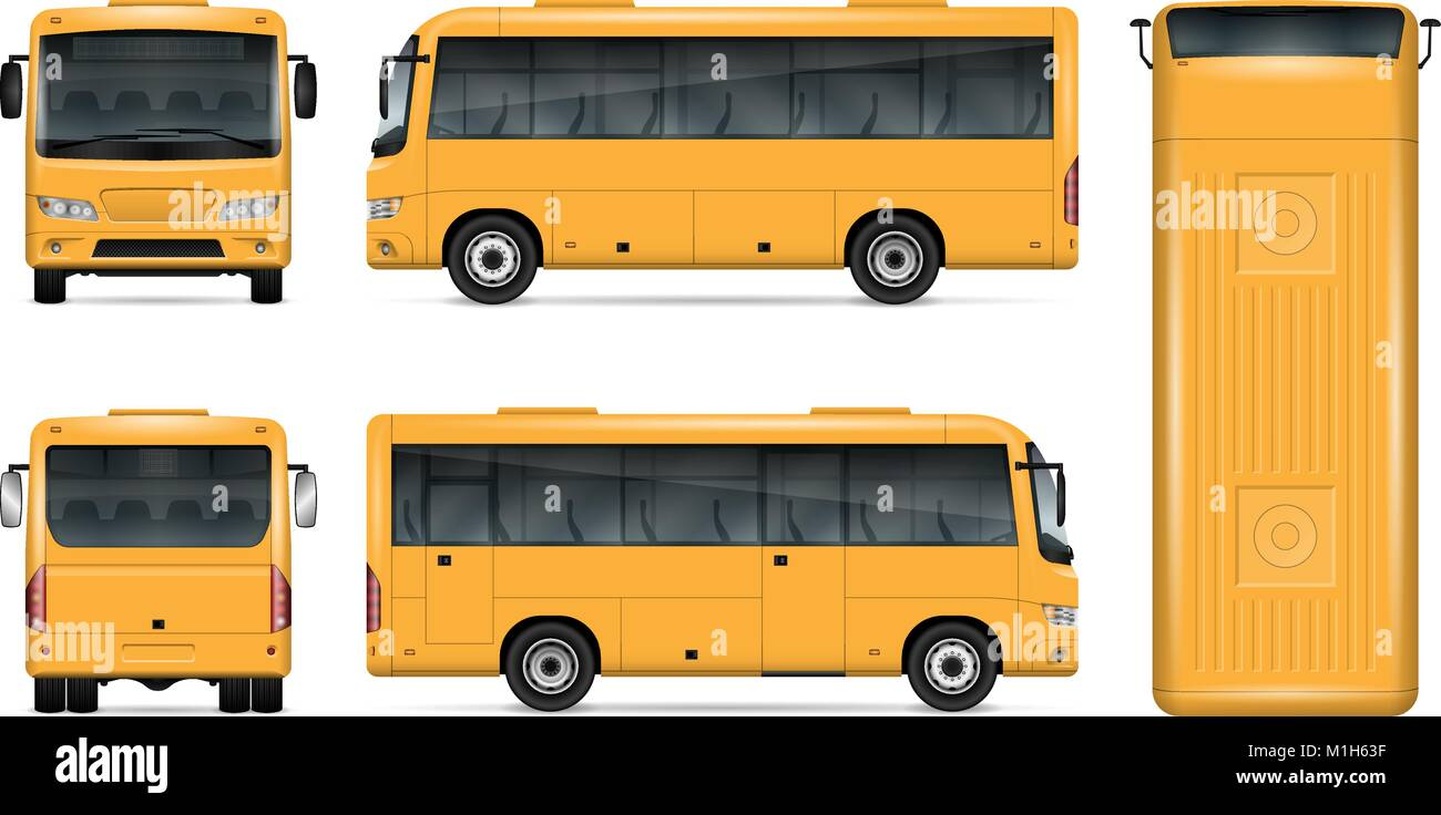 Gelben bus Vektor mock up für Werbung, Corporate Identity. Isolierte ...