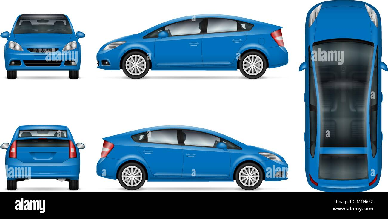 Blaues Auto vector Mock up für Werbung, Corporate Identity ...