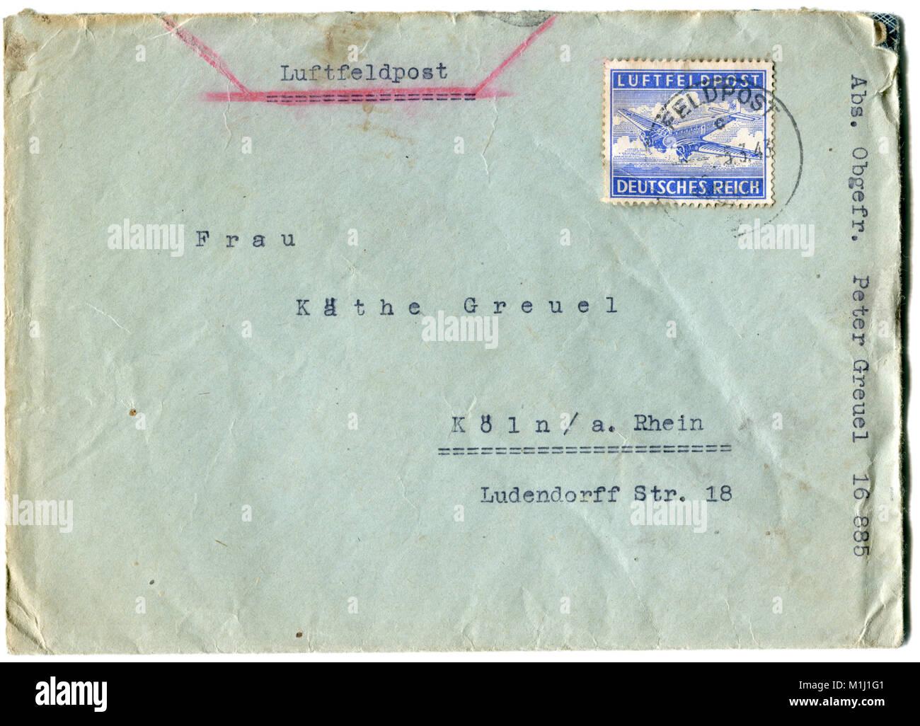 Alte Deutsche Post Umschlag Brief Und Briefmarken Poststempel Der