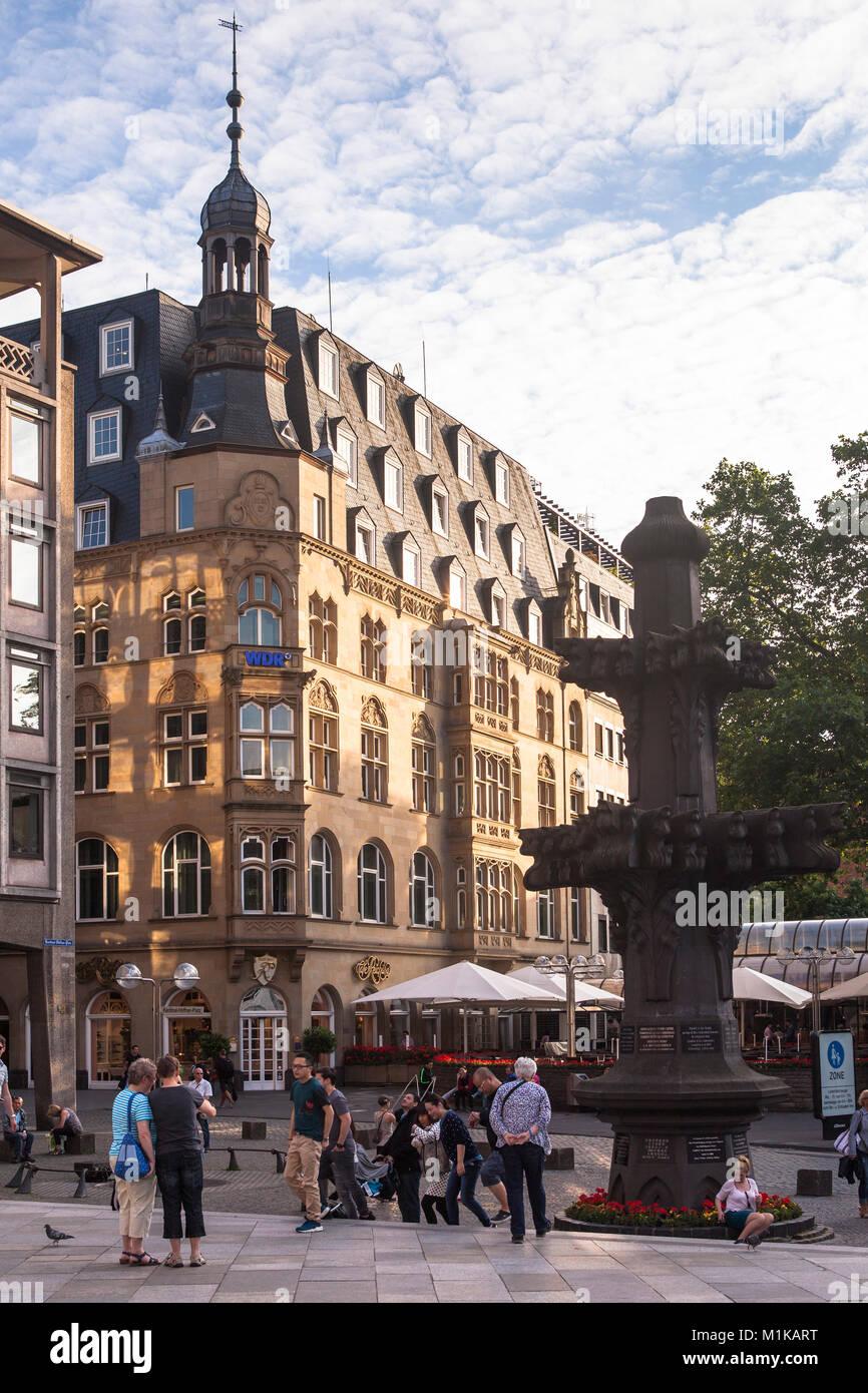 Deutschland, Köln, das Café Reichard in der Nähe der Kathedrale Deutschland, Koeln, das Cafe Reichard Dom bin. Stockfoto