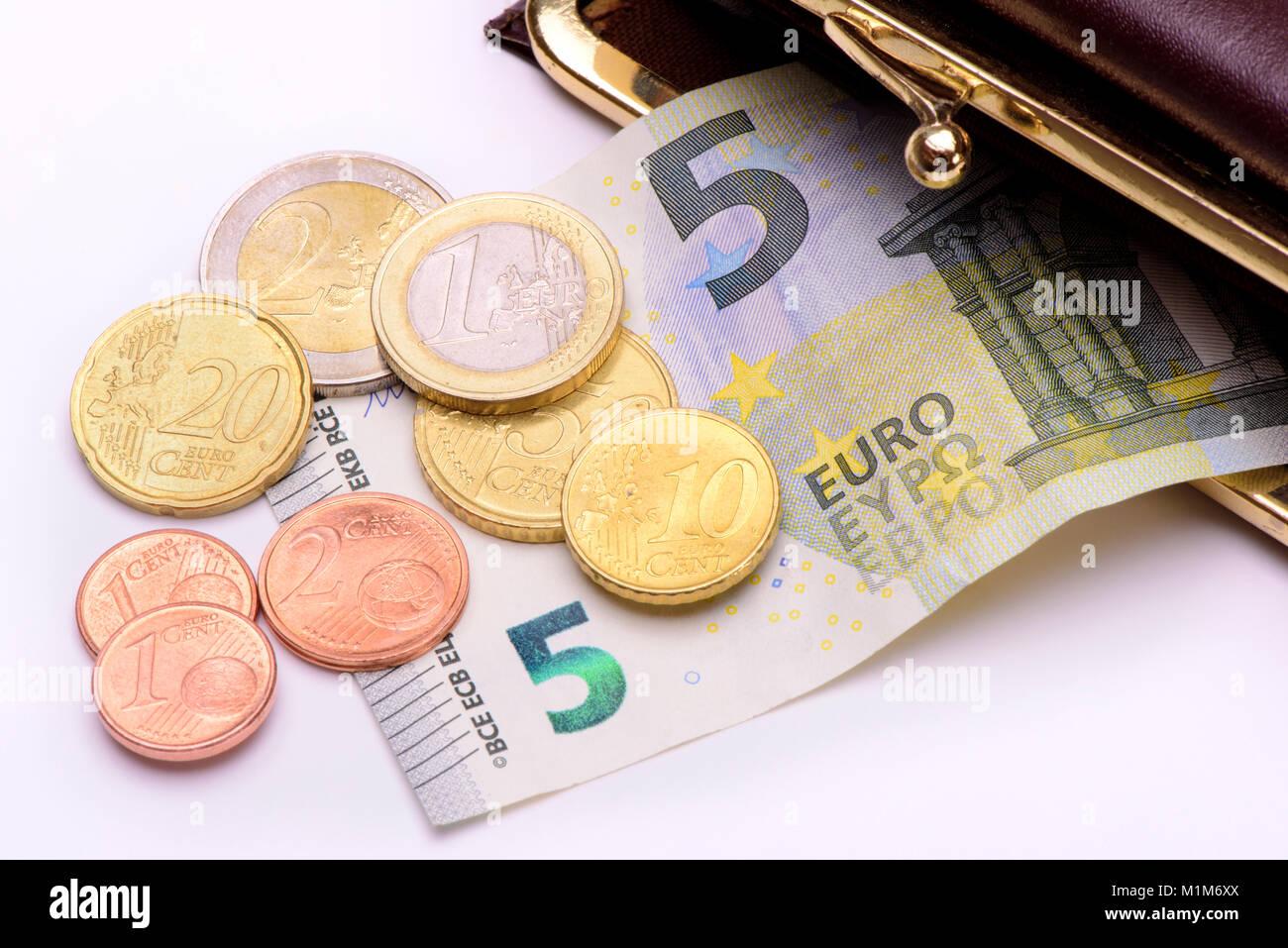 Mindestlohn 8,84 Euro pro Stunde Stockbild